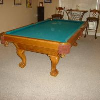 Brunswick Claw Foot Pool Table