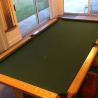 Pool Table With Cues And Accessories