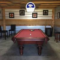 "8' Brunswick Pool Table ""Man Cave"" Set"